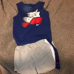 Nike shirt and shorts outfit
